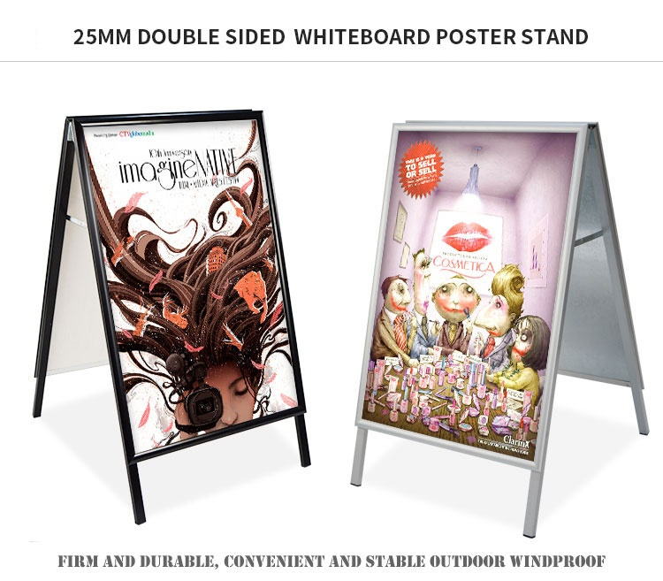 Silver Sandwich Boards,A Frame,White Writing Boards