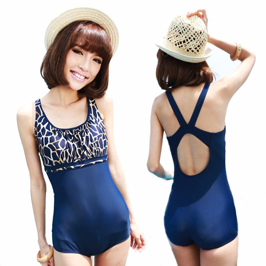 lz women 39 s maillot de bain femme leopard patchwork swimwear one piece boxer bathing suit cover. Black Bedroom Furniture Sets. Home Design Ideas