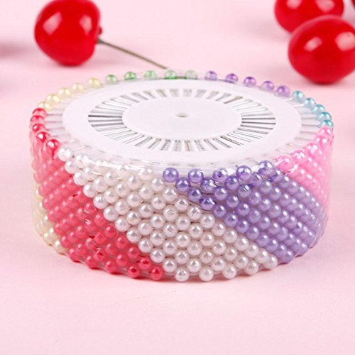 480pcs Colorful Decorative Round Manmade Pearl Head Corsage Sewing Pins Straight Head Dressmaking Pins