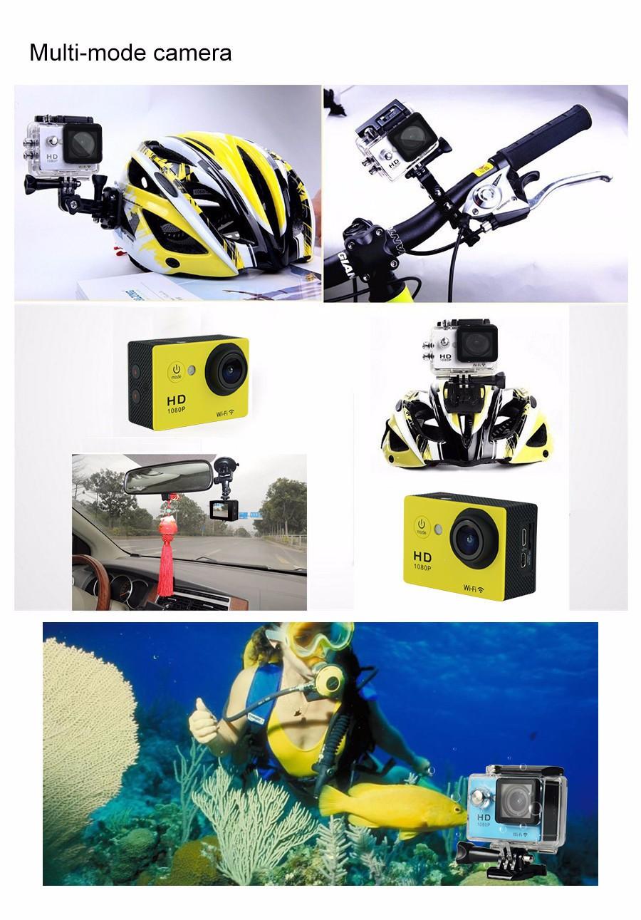 Orijinal Fabrika Fiyat 4 K Ultra hd 1080 P Mini Eylem Kamera Kablosuz Spor Kamera ile toptan tek kamera uzaktan