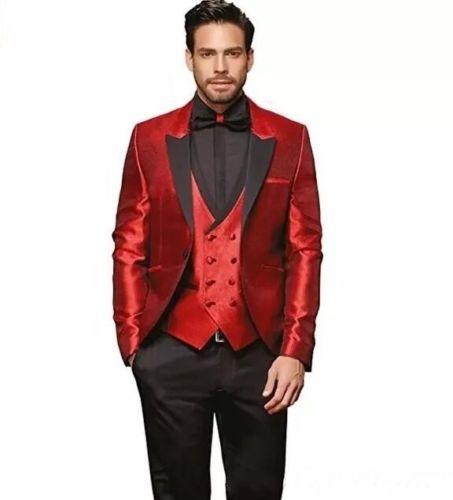 Alibaba.com / Casual business men's suit 2018 new suit men's slim wedding dress groom Terno Masculino 3 pieces (jacket + pants + vest)