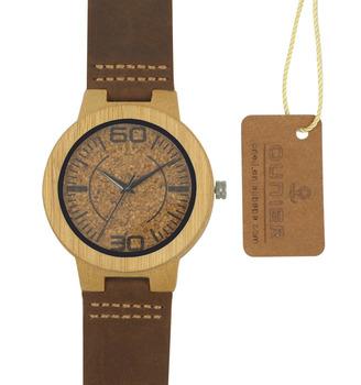 e463cacd600 Mais recente Projeto de Cortiça De Madeira Por Atacado Logotipo  Personalizado Relógio de Moda Relógio de