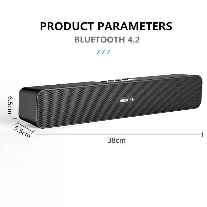 10W Ad Alta Potenza Mini Portatile Senza Fili Bluetooth Speaker Sound Bar, super Bass Speaker & Doppio Corno per Home Theater Video di Musica