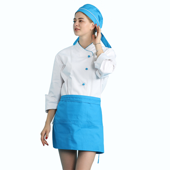 High quality poly cotton blend 65/35 235GSM French executive sushi chef uniforms