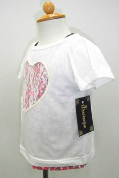 Heart Lace T shirts And Tank Top Set Name Brand Baby