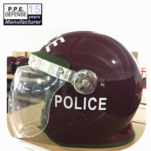 Police and military anti riot helmet with neck guard