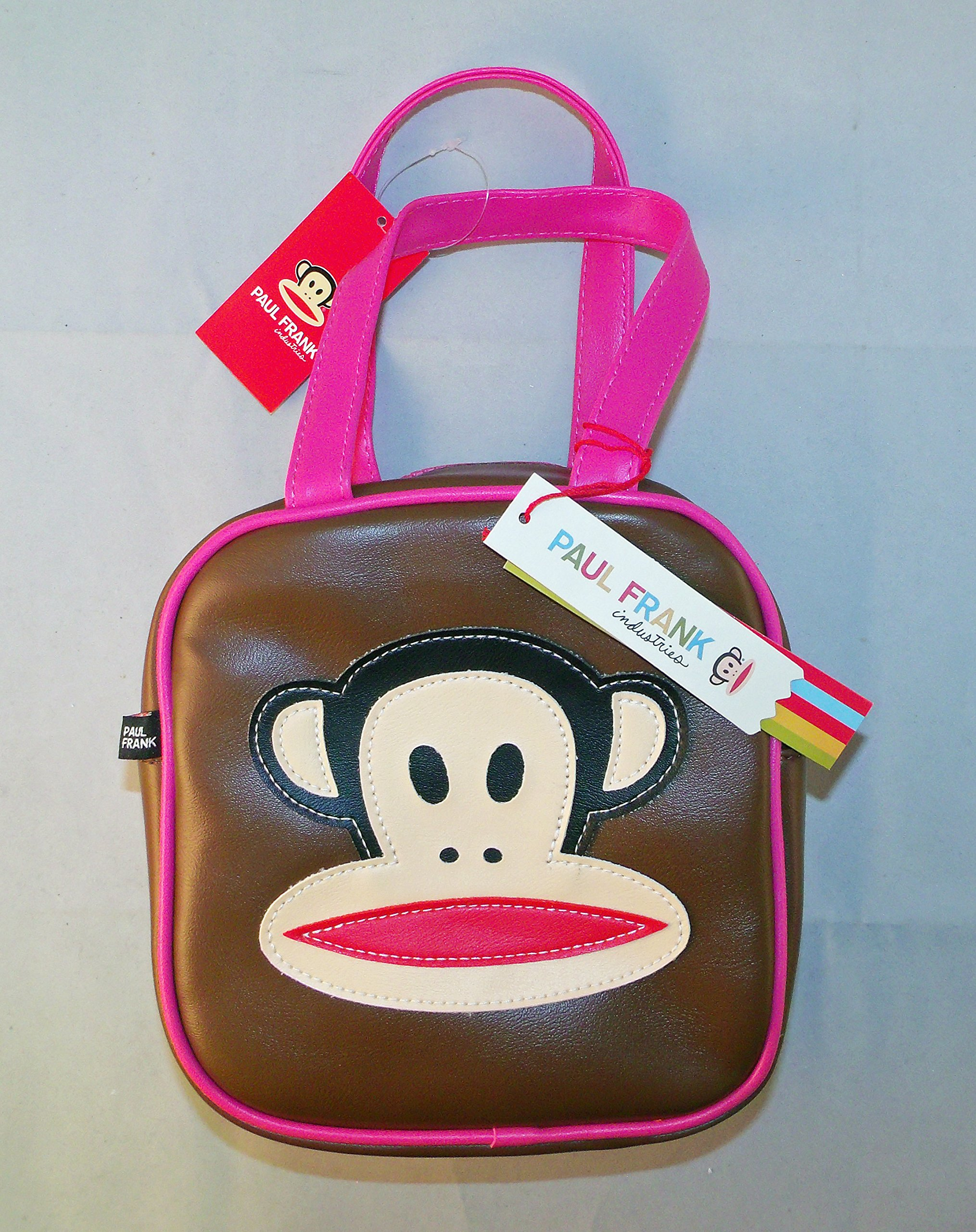 f2ec1075f6 Get Quotations · Paul Frank Monkey Square Bag - Brown with Bright Pink Trim
