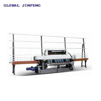 JFB-261 vertical Glass straight line beveling edging machine 9 motor