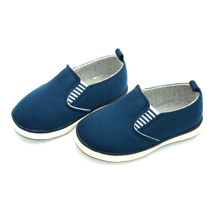 Slip on kid canvas deck shoes child canvas casual shoes without lace