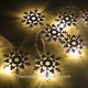 Iron snowflake Christmas led string lights