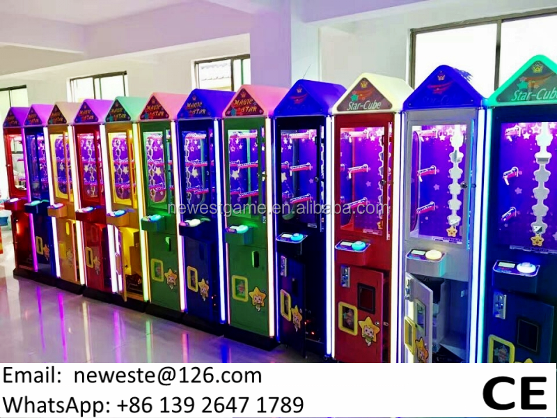 2017 Hot Selling Magic Star Coin Operated Mini Prize Gift Arcade Game Machines For Shopping Malls