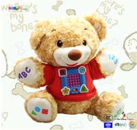 Sound teddy bear stuffed children toy ICTI andited factory
