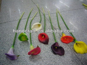 single artificial calla lily flowers