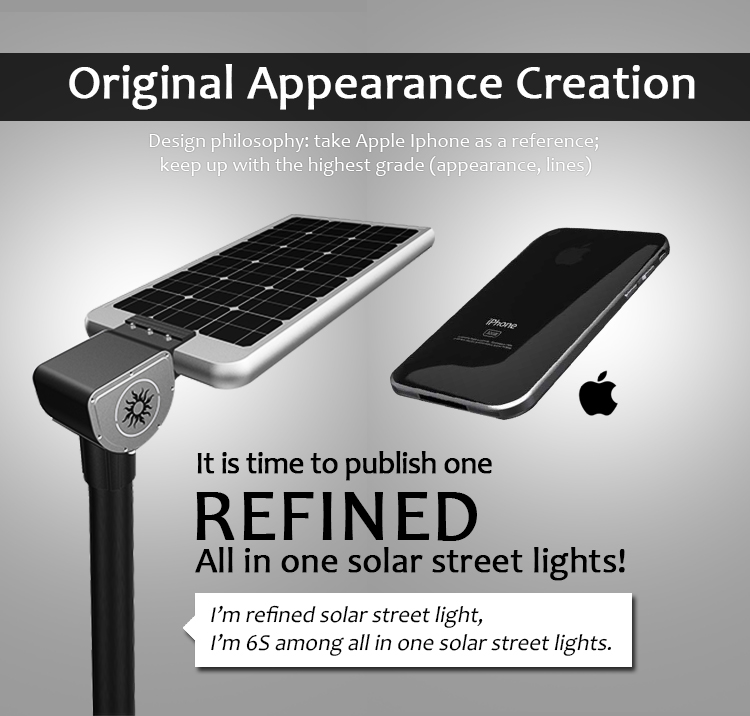 IP67 IP Rating and Pure White Color Temperature(CCT) solar All in one integrated street light solar energy 15W 20W 25W 30W 40W