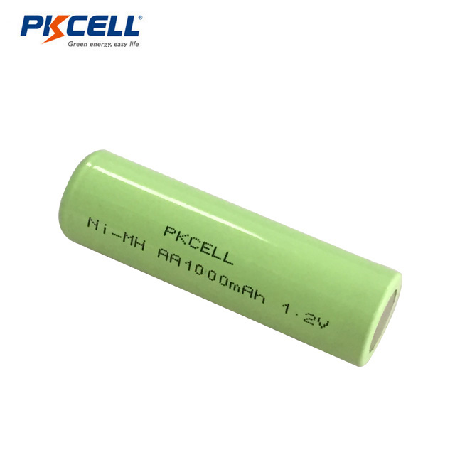 2018 PKCELL New Product Rechargeable NI-MH AA 1000mAh 1.2V Battery high cap