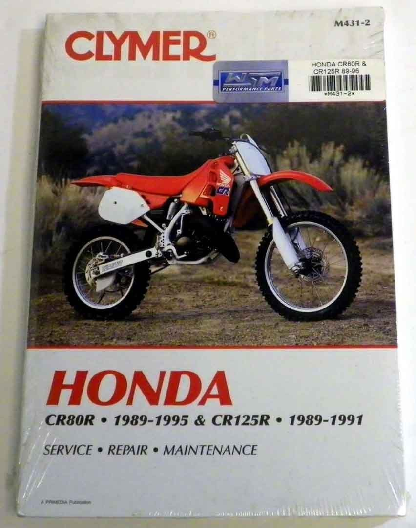 Get Quotations · ATV/Moto-X Honda Clymer Manual Models CR 80R and CR 125R  1989-