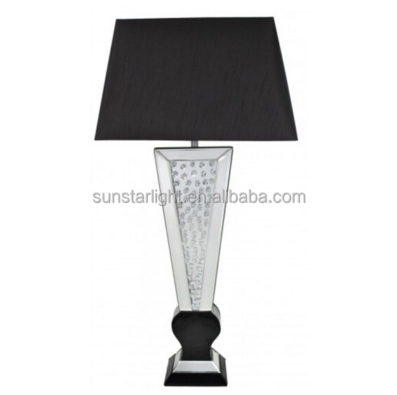 Black Mirror Astoria Crystal Table Lamp Home Decor Hotel Lamp Replica Flos Lamp Taccia Table Light
