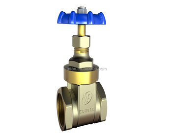 S5110 4 inch PN 16 prolong BSP thread oil and gas pipeline water brass gate valve