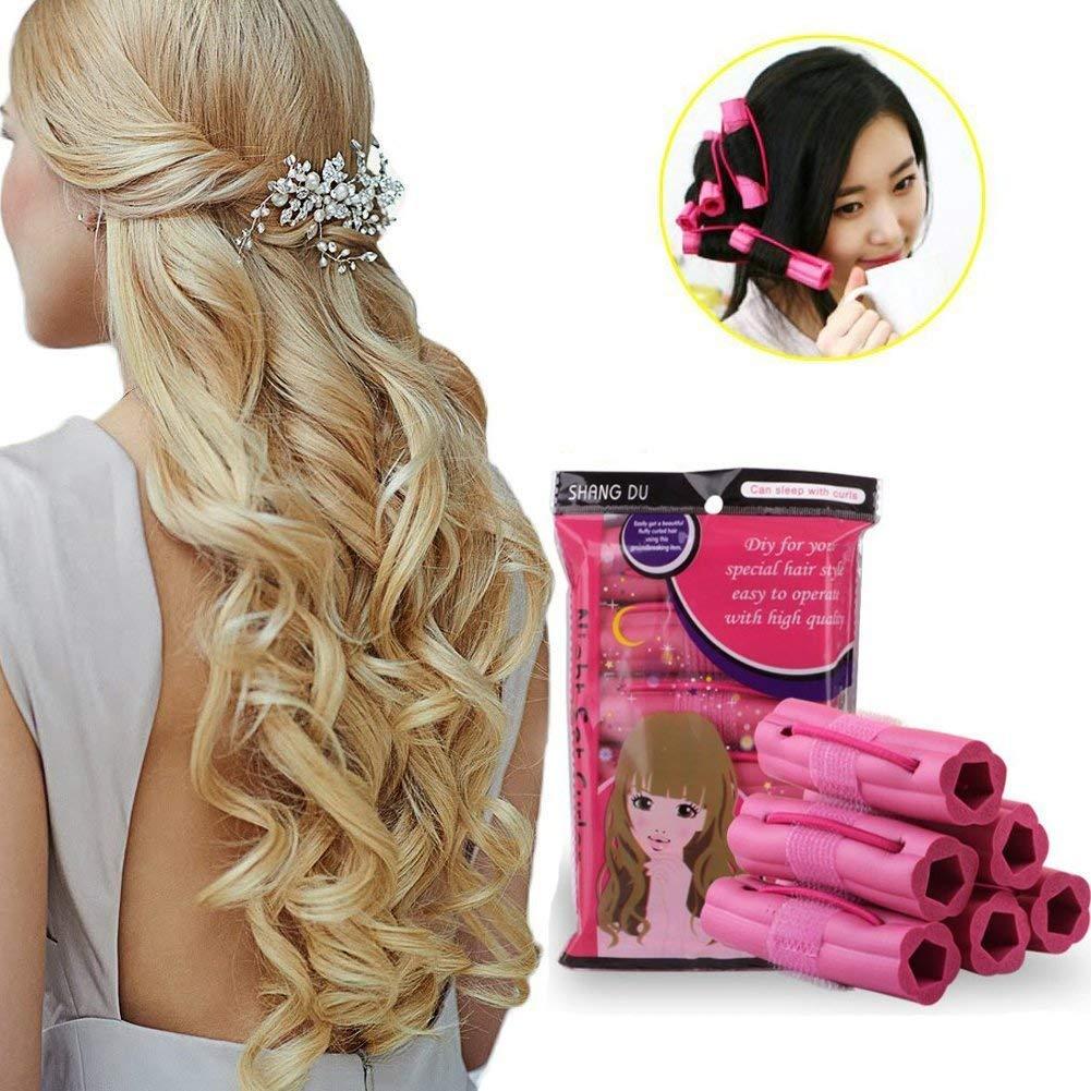KINGSUNG Curlers, Hair Rollers, Hair Curlers, Hair Roller, Foam Sponge Curlers, Sponge Hair Straighteners Hairdressing Tools, Magic Sponge for Hairstyle, Salon Roller Hairdressing Hair Styling Curlers