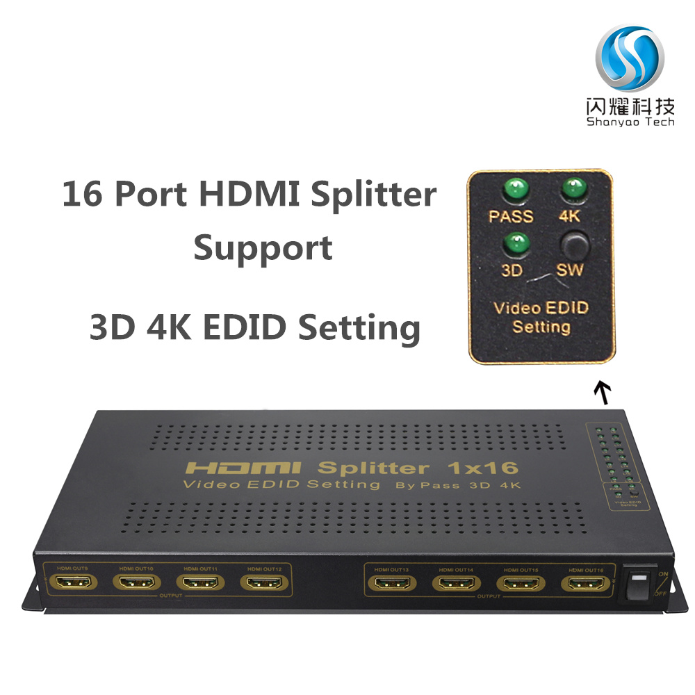 hdmi splitter support 3D 4K, 16 port hdmi splitter 1 in 16 out, hdmi splitter 1x16
