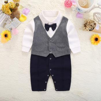 1 Year Birthday Outfit Boy Gentlemen Suit Newborn Baby Romper Winter Jumpsuit Clothes