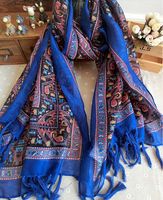 New Design From India Style Fashion Pattern Women Viscose Scarves Wraps Hijab 180*100 Pashimina Scarfs and Shawl