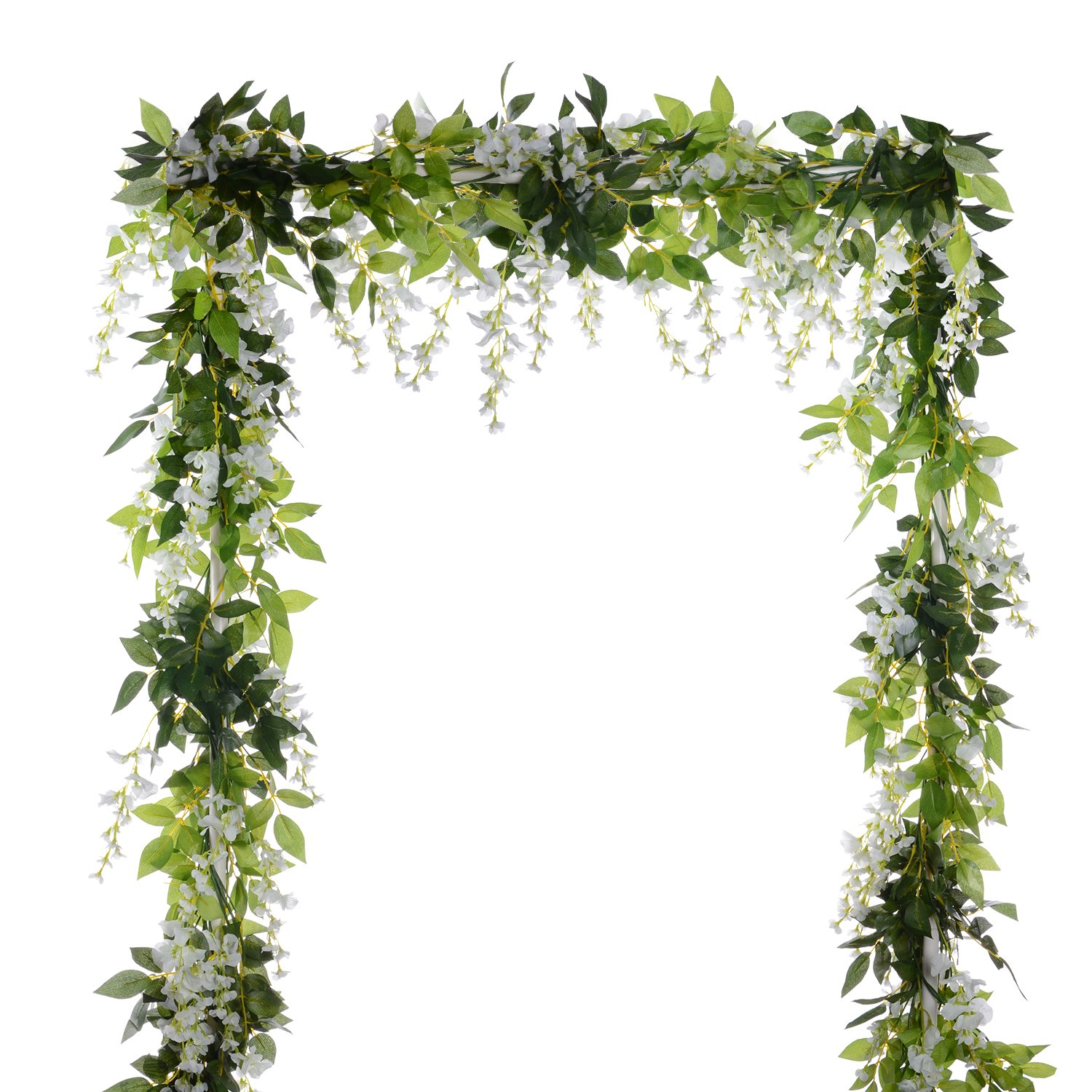 Cheap artificial flowers garland find artificial flowers garland get quotations dearhouse 4pcs 66ftpiece artificial flowers silk wisteria garland artificial wisteria vine rattan silk izmirmasajfo