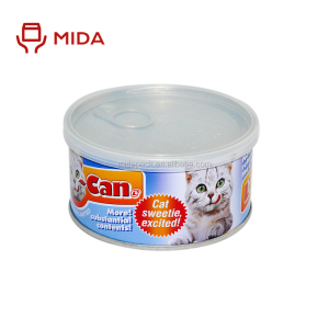 Customized cat food safe tin can of packaging