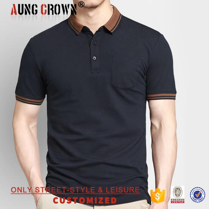Promotional High Quality Blank Polo Shirt Men Cotton Polyester Custom Logo Shirt Fashionable
