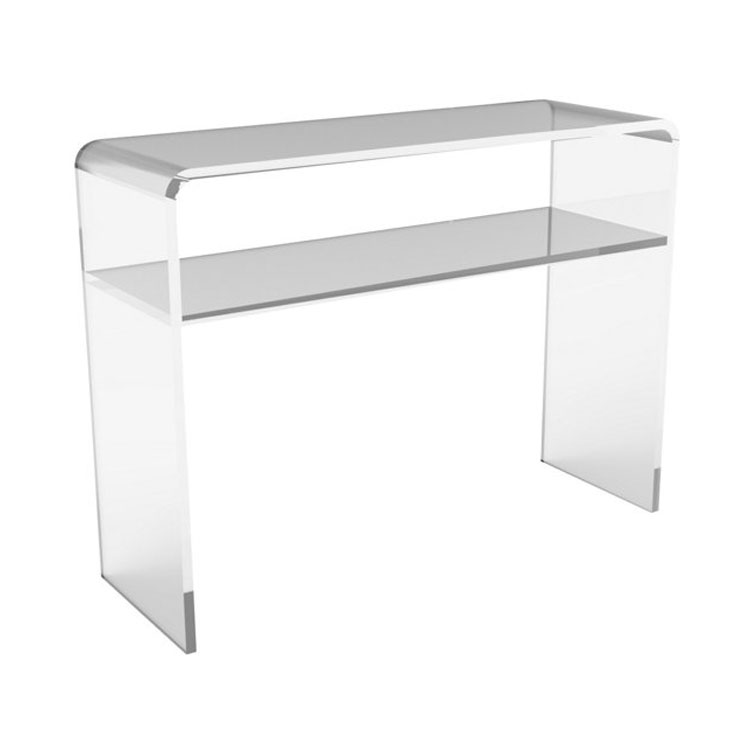 acrylic console table canada laser cut custom elegant clear cb2