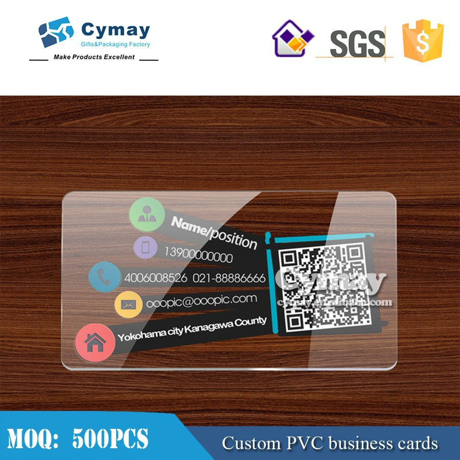 Custom Name Card,Transparent Name Cards,Pvc Business Card - Buy ...