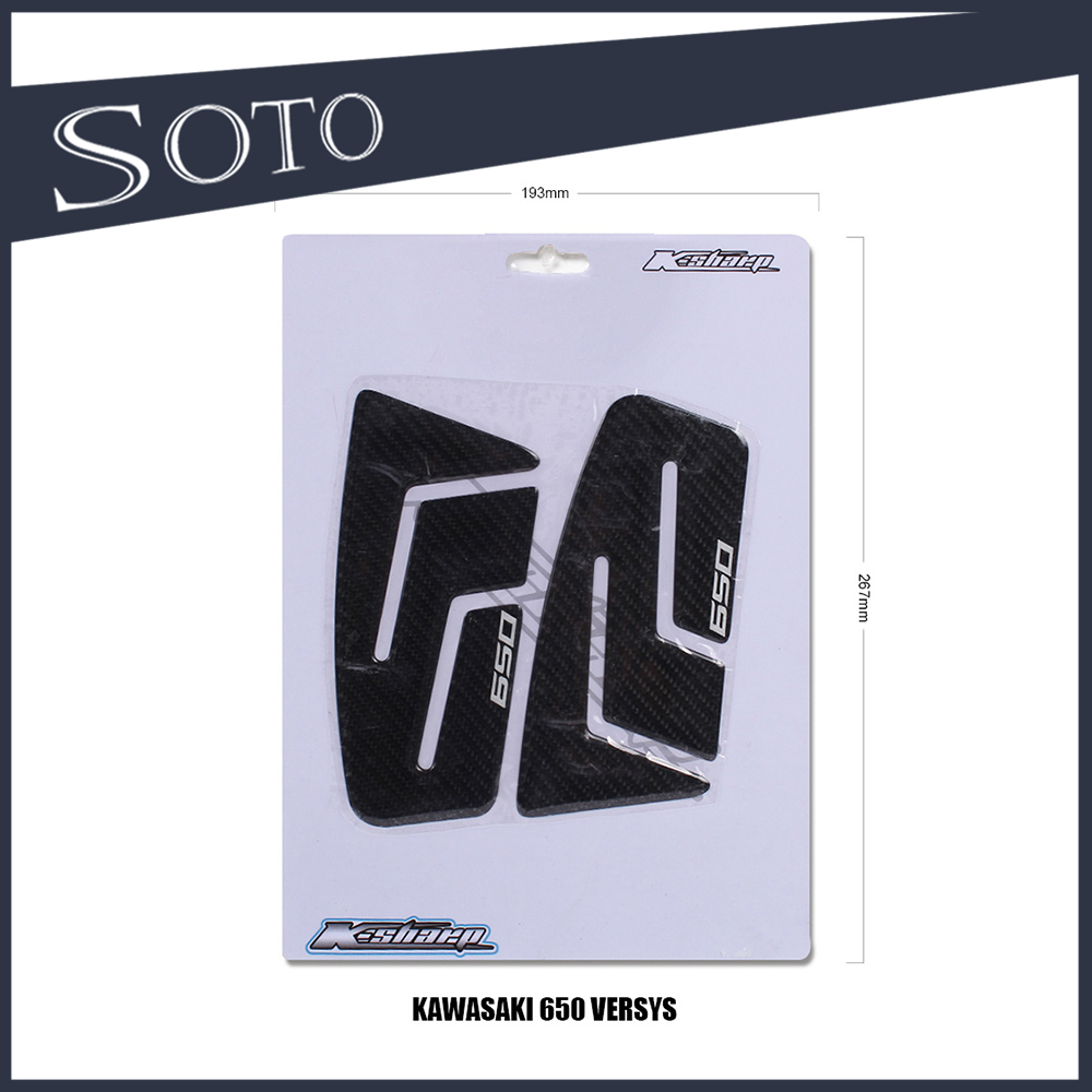 STICKERS MOTO 3D GEL PROTECTIONS KNEES compatible for KAWASAKI Z1000sx ,650 versys