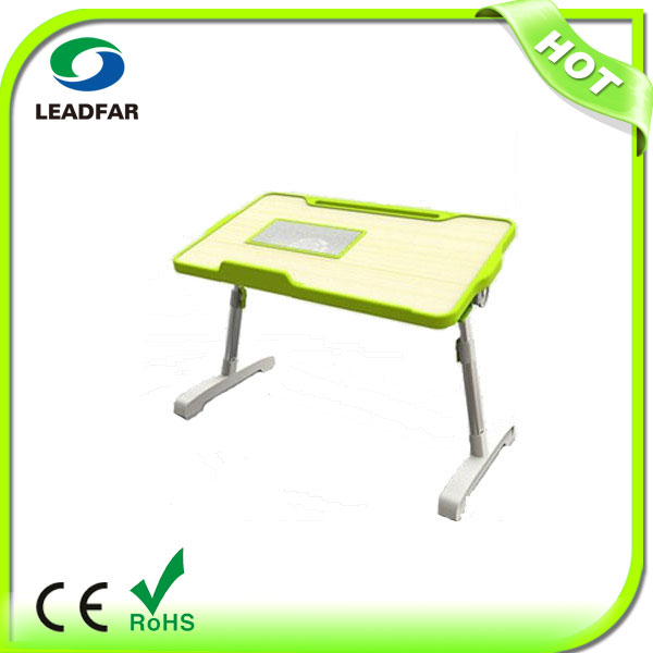 with Fan and LSlot for Tablet Small Smart Portable Folding Laptop Table