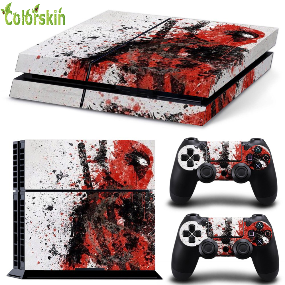 Dead Pool Design Sticker For Playstation 4 For Ps4 Skin