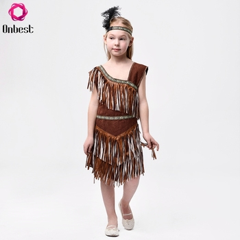 High quality carnival kids masquerade party Indians costume