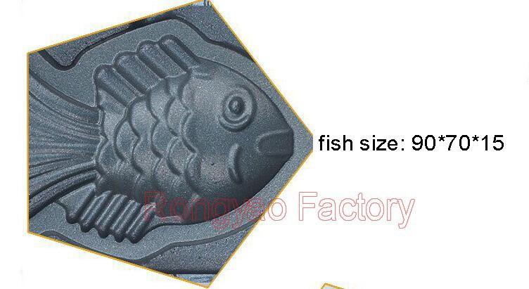 Electric Fish Cakes Machine Fish Roaster Roasting Machine Fish Waffle Maker Egg Vans Waffle Case