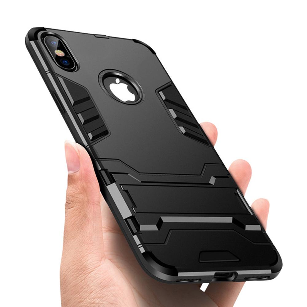 Купить со скидкой OTAO Bracket Cell Phone Accessories Case For iphone XR XS MAX X 8 7 6 6s Plus Shockproof Armor Phone