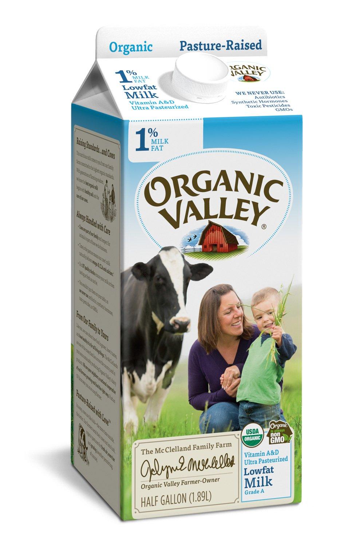 Organic Valley, Organic 1% Low Fat Milk, Ultra Pasteurized, Half Gallon, 64 Ounces