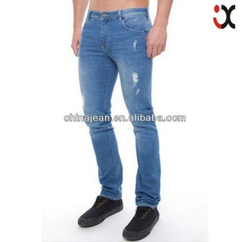 2017 new arrival excellent quality washed jeans slim men pants jeans fabric export  jeans (JXL21921