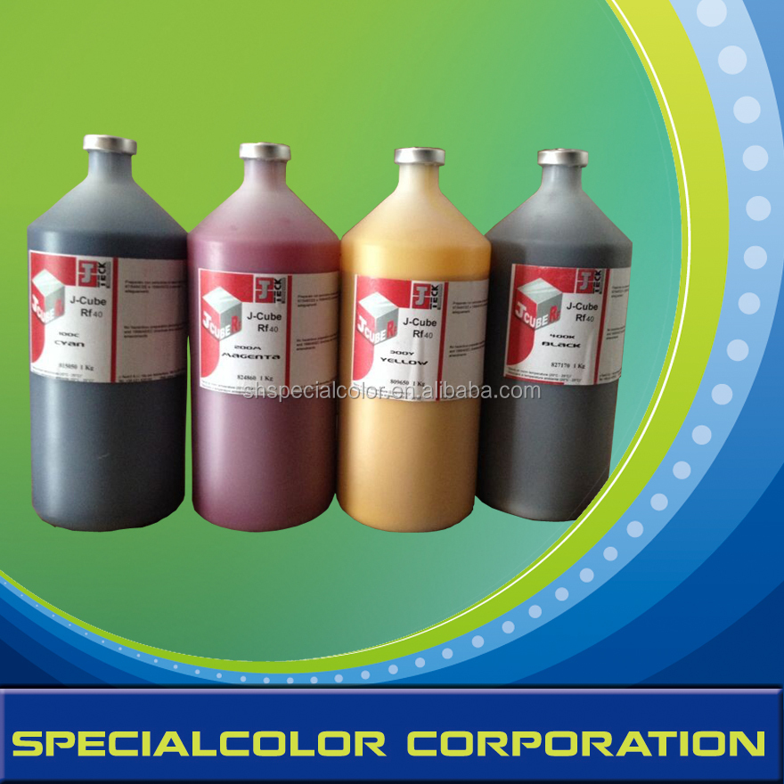 J-CUBE RF40/KF40 are waterbased digital inks particularly designed to be used on printers equipped with new generation printing