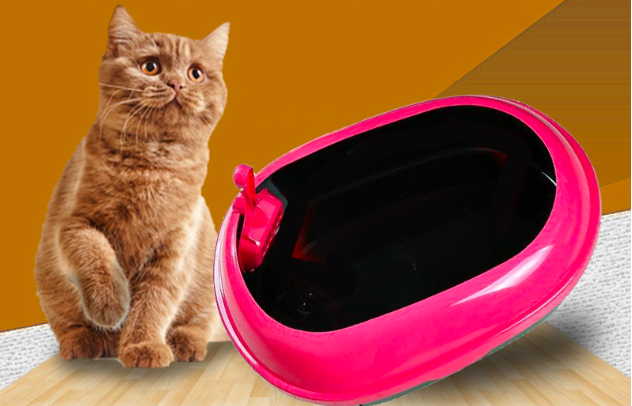 Hot sale factory direct price good quality semi closed cats litter box