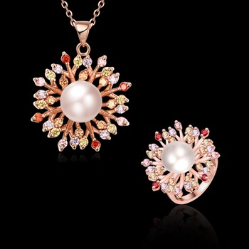 Italian Rose Gold Jewelry Sets Snowflake Imitation Jewelry Buy
