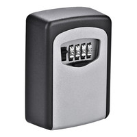 Wall Mounted Combination Lock Storage Key Box 4-digit Safe Security Lock