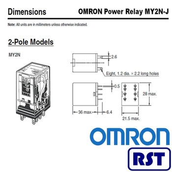 3-pole relays protective my2-gs 24vdc - buy my2-gs 24vdc ... 3 pole wiring diagram 3 pole relay diagram #8