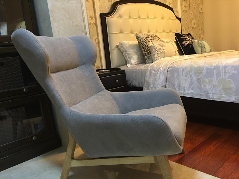 Zeitgenössische Stil Holz Sofa Sessel Halb Liegen Couch ...