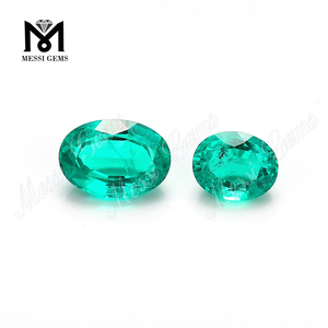 Wuzhou emerald rough cut factory price oval columbia emerald stone