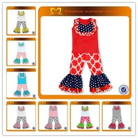 Hot ! Children baby boutique sets july 4th National Day baby girls red clothing wholesale kids sets