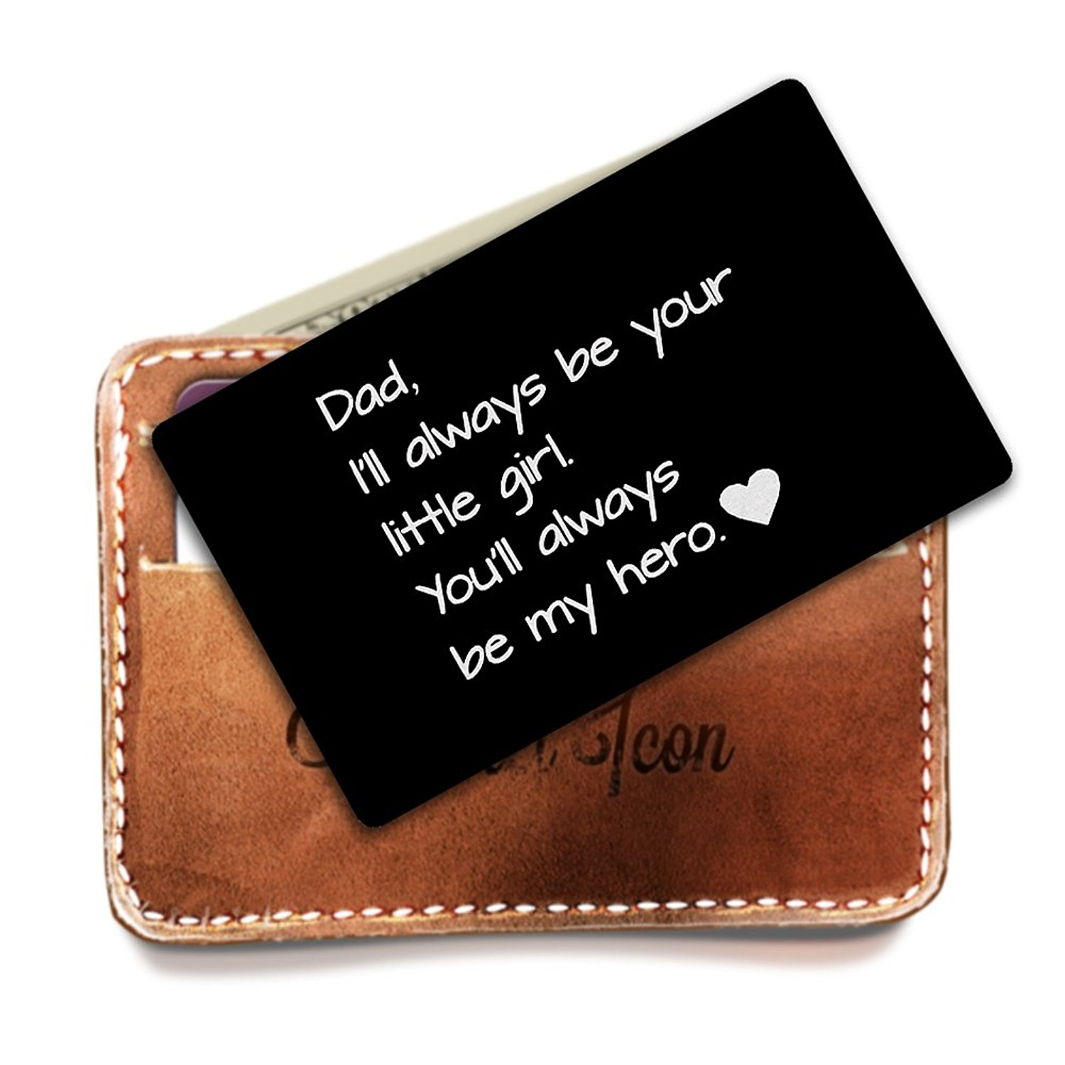 Get Quotations Engraved Wallet Insert Personalized Card Dad Gifts For Dads Birthday