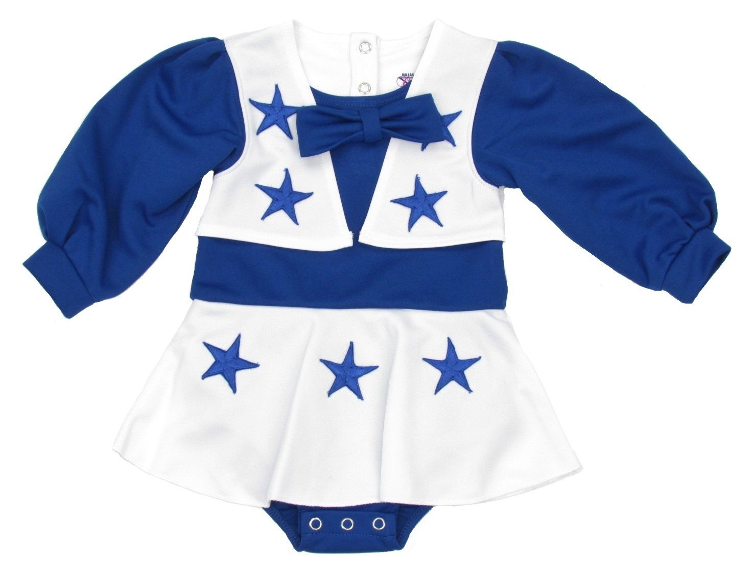 b6e99c7c9 Get Quotations · Dallas Cowboys Toddler One Piece Cheerleader Dress Uniform  - Blue White (12 Months)