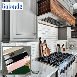 Cheap waterproof beveled ceramic wall tiles 75*300 glossy green pink black grey white kitchen subway tile